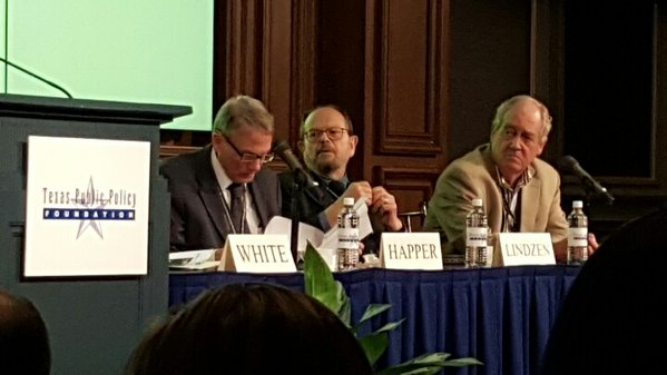 From Left to Right Dr Will Happer Dr Richard Lindzen & Dr Patrick Moore