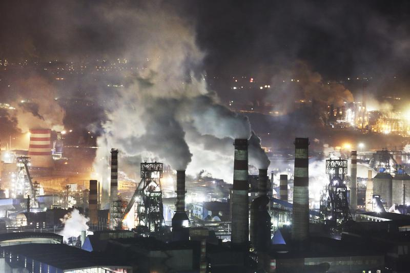 Steel Cities in China's Hebei Province