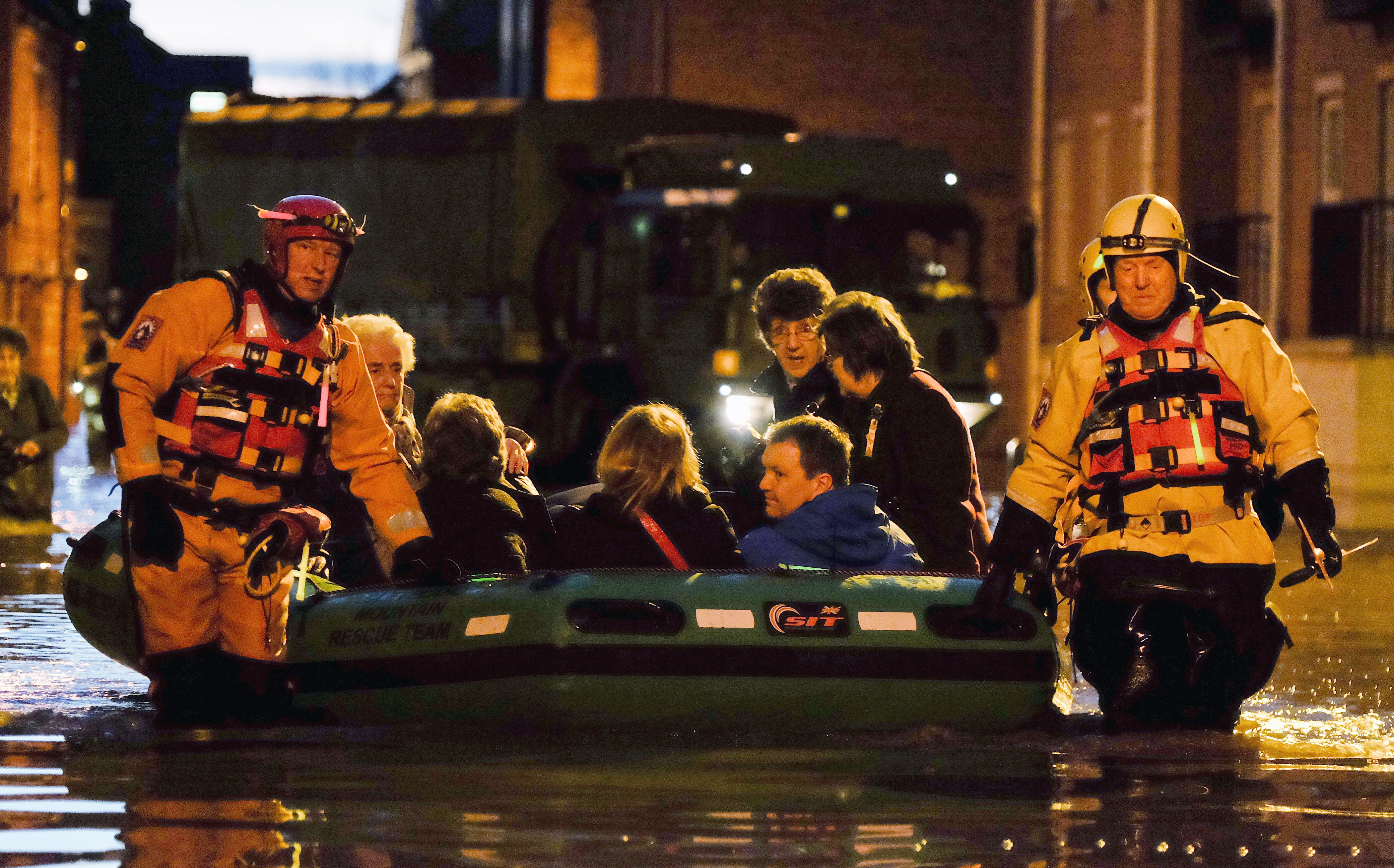 Rescue operation, York, 27 December.  Image: Getty
