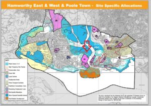 The plans for housing in Poole noted climate change projections that could leave the area under 4m of water during floods.