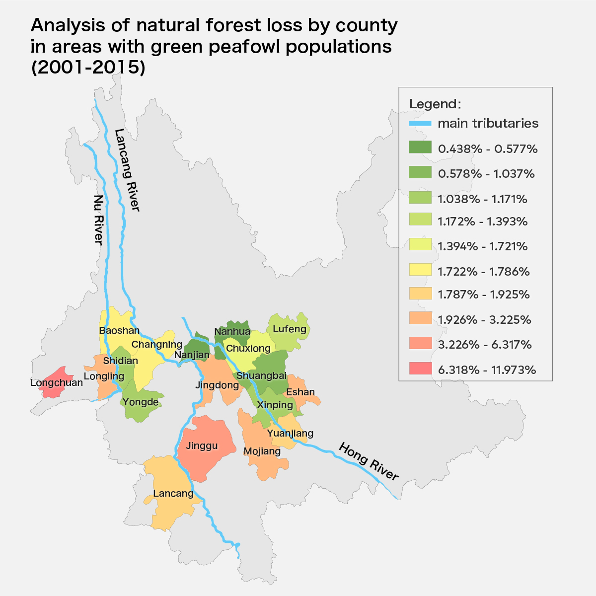 Map ii_Forest loss map_green peafowl