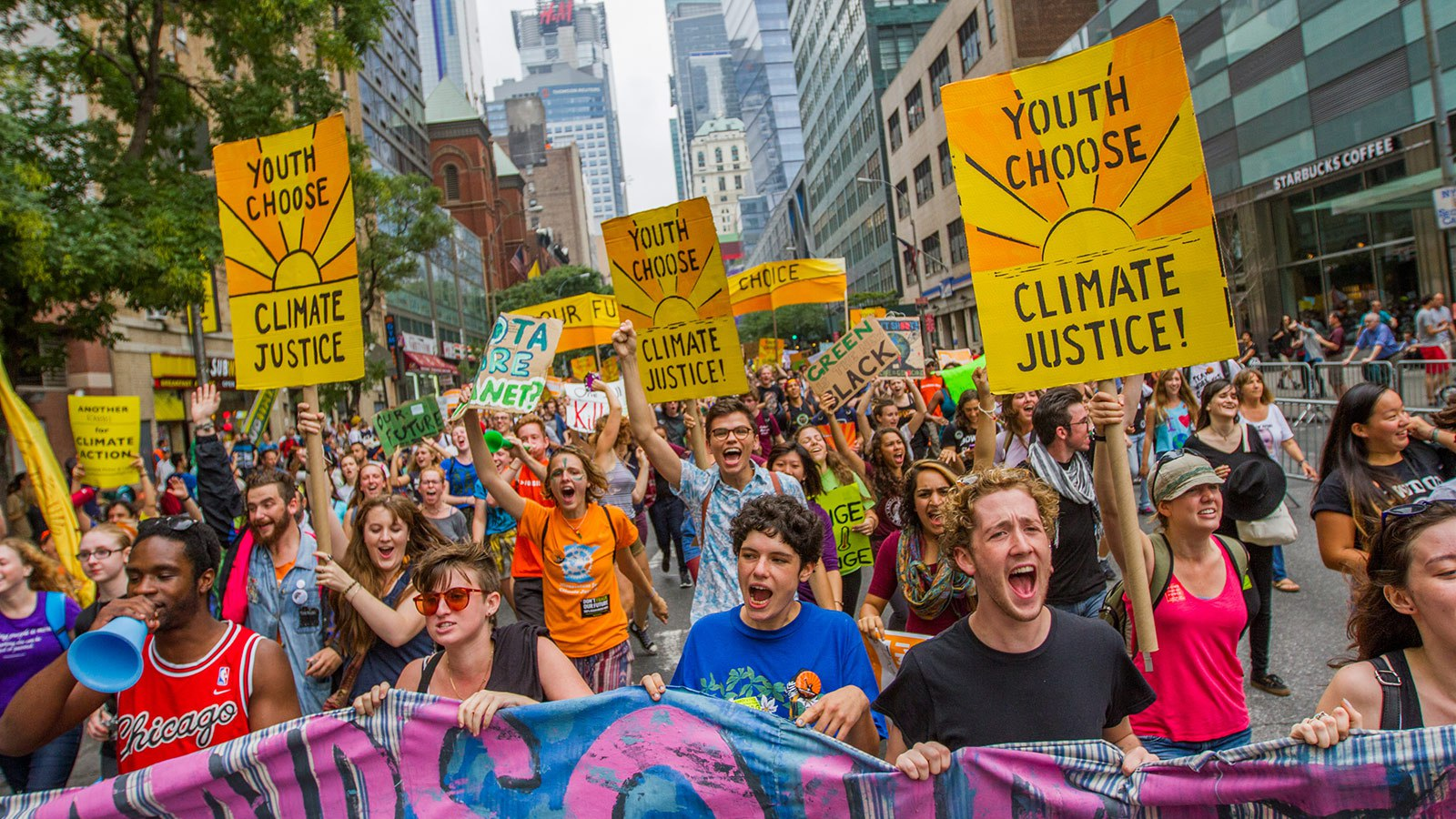 Scenes from the People's Climate March, New York, 2014