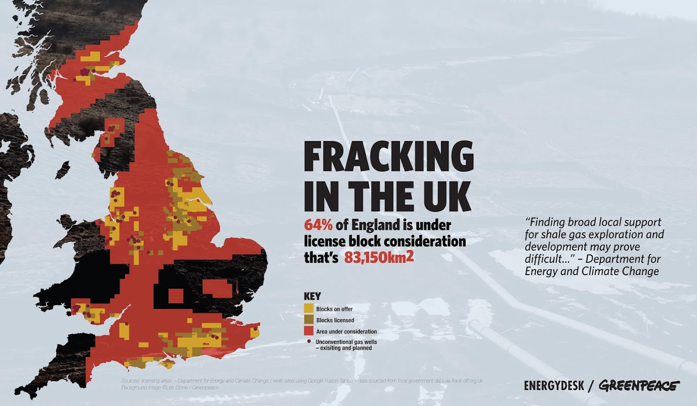 Fracking In The UK Map Unearthed - Map of us fracking sites